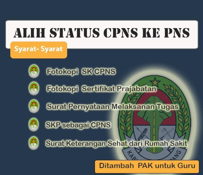 Perubahan Status CPNS Menjadi PNS